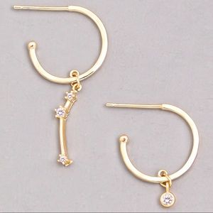Jewelry - ARIES Zodiac Star Gold Huggie Hoop Earrings